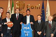 ROMA 12 MAGGIO 2010<br /> BASKET FIP<br /> CONFERENZA STAMPA BELINELLI E CUZZOLIN<br /> NELLA FOTO PITTIS CUZZOLIN MENEGHIN BELINELLI PETRUCCI PAGNOZZI <br /> FOTO CIAMILLO