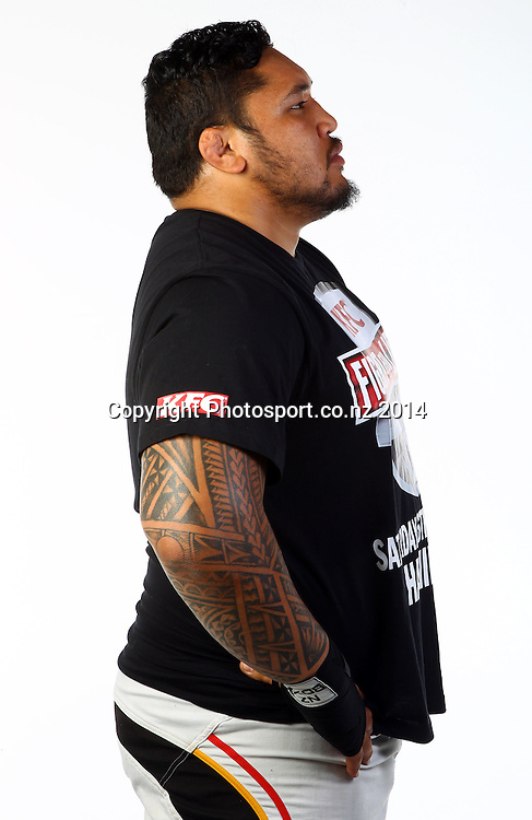 Ben Tameifuna, Photoshoot, portrait session ahead of this years KFC fight for life charity boxing event. Photosport Studios, Auckland. 4 November 2014. Photo: William Booth/www.photosport.co.nz