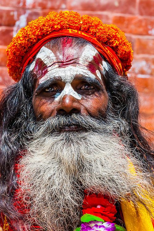 Saddhus (holy men), Durbar Square, Kathmandu, Nepal.