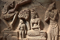 Fourth century Hindu carvings on display at the My Son Sanctuary in central Vietnam