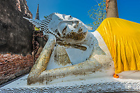 reclining buddha statue at Wat Yai Chai Mongkhon Ayutthaya Bangkok Thailand