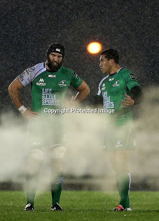 Guinness PRO12, Sportsground, Galway 21/11/2014<br /> Connacht vs Zebre<br /> Connacht's John Muldoon and Mils Muliaina <br /> Mandatory Credit &copy;INPHO/James Crombie