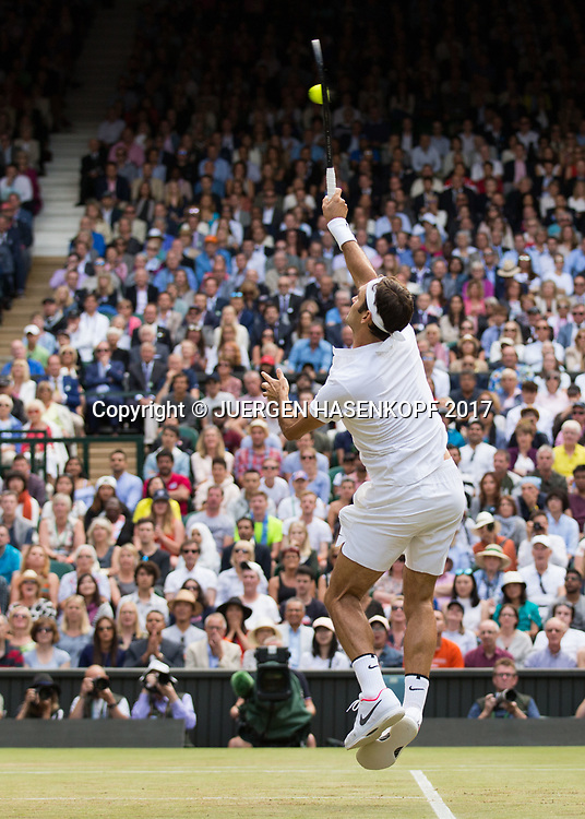 ROGER FEDERER (SUI)<br /> <br /> Tennis - Wimbledon 2017 - Grand Slam ITF / ATP / WTA -  AELTC - London -  - Great Britain  - 12 July 2017.