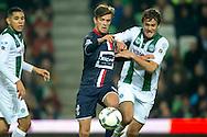 17-10-2015 VOETBAL:FC GRONINGEN-WILLEM II:GRONINGEN<br /> <br /> Lucas Andersen van Willem II in duel met Etienne Reijnen<br /> <br /> <br /> Foto: Geert van Erven