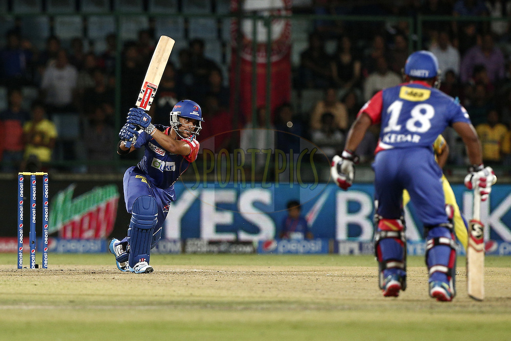 Jean-Paul Duminy of the Delhi Daredevils during match 26 of the Pepsi Indian Premier League Season 2014 between the Delhi Daredevils and the Chennai Superkings held at the Ferozeshah Kotla cricket stadium, Delhi, India on the 5th May  2014<br /> <br /> Photo by Deepak Malik / IPL / SPORTZPICS<br /> <br /> <br /> <br /> Image use subject to terms and conditions which can be found here:  http://sportzpics.photoshelter.com/gallery/Pepsi-IPL-Image-terms-and-conditions/G00004VW1IVJ.gB0/C0000TScjhBM6ikg