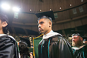 Ben Grice receives his masters degree in sociology. Photo by Ben Siegel