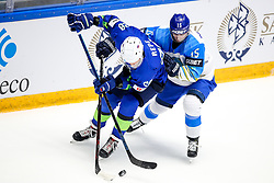 Jurij Repe of Slovenia vs Yegor Petukhov of Kazakhstan during ice hockey match between Slovenia and Kazakhstan at IIHF World Championship DIV. I Group A Kazakhstan 2019, on April 29, 2019 in Barys Arena, Nur-Sultan, Kazakhstan. Photo by Matic Klansek Velej / Sportida