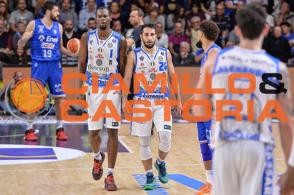 DESCRIZIONE : Beko Legabasket Serie A 2015- 2016 Dinamo Banco di Sardegna Sassari - Enel Brindisi<br /> GIOCATORE : Brenton Petway Rok Stipcevic<br /> CATEGORIA : Ritratto Coppia<br /> SQUADRA : Dinamo Banco di Sardegna Sassari<br /> EVENTO : Beko Legabasket Serie A 2015-2016<br /> GARA : Dinamo Banco di Sardegna Sassari - Enel Brindisi<br /> DATA : 18/10/2015<br /> SPORT : Pallacanestro <br /> AUTORE : Agenzia Ciamillo-Castoria/L.Canu