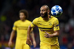 November 6, 2018 - Madrid, Spain - Omer Toprak of Borussia Dortmund during the Group A match of the UEFA Champions League between Atletico de Madrid and Borussia Dortmund at Wanda Metropolitano Stadium, Madrid on November 06 of 2018. (Credit Image: © Jose Breton/NurPhoto via ZUMA Press)