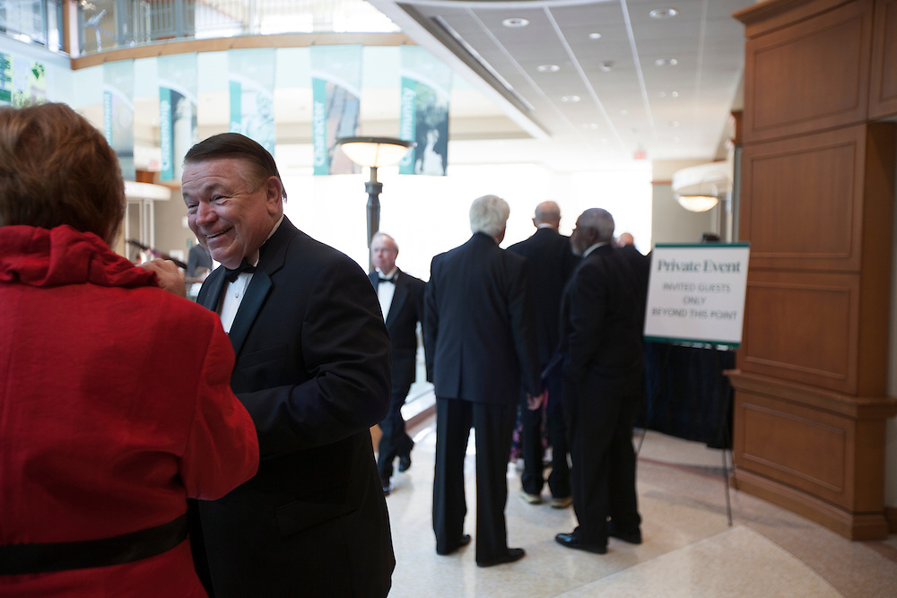 Steven Schoonover shares a laugh with someone before entering the Promise Lives Campaign Gala in Baker Ballroom on Friday, Sept. 11, 2015. Photo by Kaitlin Owens