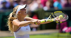 LONDON, ENGLAND - Saturday, June 28, 2008: Caroline Wozniacki (DEN) during her third round match on day six of the Wimbledon Lawn Tennis Championships at the All England Lawn Tennis and Croquet Club. (Photo by David Rawcliffe/Propaganda)