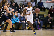 Brighton's Makalah Sizer dribbles during a game against Pittsford Sutherland at Brighton High School on Thursday, January 21, 2016.