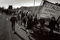 March back to work on 5 March 1985 at end of miners strike; Ellington Colliery; Northumberland; NE England