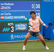 Carla Suarez Navarro on Day Eight of the Aegon Classic at Edgbaston Priory Club, Birmingham, UK<br /> Picture by Mike Griffiths/Focus Images Ltd +44 7766 223933<br /> 18/06/2016