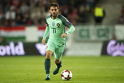 September 3, 2017 - Budapest, Hungary - Bernardo Silva of Portugal controls the ball during the FIFA World Cup 2018 Qualifying Round match between Hungary and Portugal at Groupama Arena in Budapest, Hungary on September 3, 2017  (Credit Image: © Andrew Surma/NurPhoto via ZUMA Press)