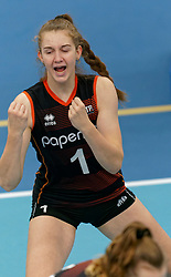 26-10-2019 NED: Talentteam Papendal - Sliedrecht Sport, Ede<br /> Round 4 of Eredivisie volleyball - Noa de Vos #1 of Talent Team