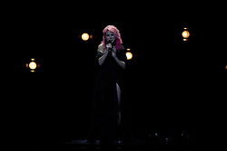 May 7, 2018 - Lisbon, Portugal - Singer Claudia Pascoal of Portugal performs during the Dress Rehearsal of the first Semi-Final of the 2018 Eurovision Song Contest, at the Altice Arena in Lisbon, Portugal on May 7, 2018. (Credit Image: © Pedro Fiuza/NurPhoto via ZUMA Press)