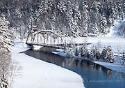 County Road 510 bridge, winter, Marquette County
