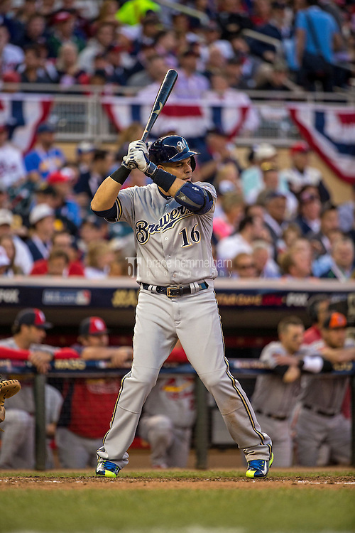 MINNEAPOLIS, MN- JULY 15: National League All-Star Aramis Ramirez #16 of the Milwaukee Brewers during the 85th MLB All-Star Game at Target Field on July 15, 2014 in Minneapolis, Minnesota. (Photo by Brace Hemmelgarn) *** Local Caption *** Aramis Ramirez