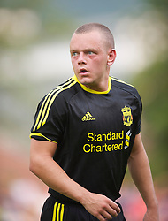 ZUG, SWITZERLAND - Wednesday, July 21, 2010: Liverpool's Jay Spearing in action against Grasshopper Club Zurich during the Reds' first preseason match of the 2010/2011 season at the Herti Stadium. (Pic by David Rawcliffe/Propaganda)
