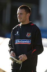 CARDIFF, WALES - Wednesday, October 8, 2008: Wales' Neal Eardley during training at Ninian Park ahead of the UEFA European U21 Championship Play-Off match against England. (Photo by David Rawcliffe/Propaganda)