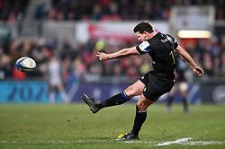 Freddie Burns of Bath Rugby kicks for the posts - Mandatory byline: Patrick Khachfe/JMP - 07966 386802 - 18/01/2020 - RUGBY UNION - Kingspan Stadium - Belfast, Northern Ireland - Ulster Rugby v Bath Rugby - Heineken Champions Cup