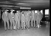 Olympic Competitors Depart for Moscow..1980-07-14.14th July 1980.14/07/1980.07-14-80..Photographed at Dublin Airport...Some of the Irish Olympics team and their Chief de Mission and other officials prepare to fly out to Moscow for the Olympic Games...
