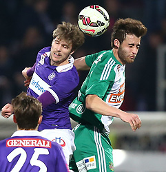 08.03.2015, Generali Arena, Wien, AUT, 1. FBL, FK Austria Wien vs SK Rapid Wien, 24. Runde, im Bild Philipp Zulechner (FK Austria Wien) und Thanos Petsos (SK Rapid Wien) // during Austrian Football Bundesliga Match, 24th Round, between FK Austria Vienna and SK Rapid Wien at the Generali Arena, Vienna, Austria on 2015/03/08. EXPA Pictures © 2015, PhotoCredit: EXPA/ Thomas Haumer