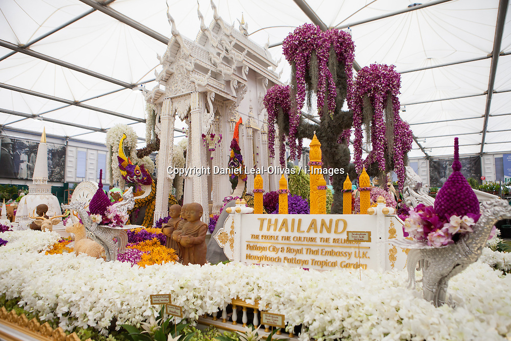 The Nong Nooch Pattaya Tropical Garden, Chelsea Flower Show, London, UK, May 18, 2013. Photo by: Daniel Leal-Olivas / i-Images