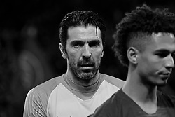 January 27, 2019 - Paris, Ile de France, France - Paris Saint Germain Goalkeeper GIANLUIGI BUFFON in action during the French championship League 1 Conforama match Paris Saint Germain against Rennes at the Parc des Princes Stadium in Paris - France..Paris SG won 4-1 (Credit Image: © Pierre Stevenin/ZUMA Wire)