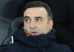 Swansea City manager Carlos Carvalhal looks on -Mandatory by-line: Nizaam Jones/JMP- 17/01/2018 - FOOTBALL - Liberty Stadium- Swansea, Wales - Swansea City v Wolverhampton Wanderers - Emirates FA Cup third round proper