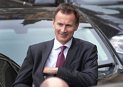 © Licensed to London News Pictures. 27/03/2019. London, UK. Foreign Secretary Jeremy Hunt leaves Parliament after prime minister's questions. MPs are holding a series of indicative votes on different Brexit options this evening. Photo credit: Peter Macdiarmid/LNP