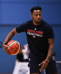 Panos Mayindombe of Bristol Flyers during the warm up - Photo mandatory by-line: Arron Gent/JMP - 02/11/2019 - BASKETBALL - Surrey Sports Park - Guildford, England - Surrey Scorchers v Bristol Flyers - British Basketball League Cup