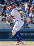 Aug 27 2016 - Los Angeles U.S. CA - LA Dodgers 3rd base Chris Taylor make an infield play at third during MLB game between LA Dodgers and the Chicago Cubs 3-2 win at Dodgers Stadium Los Angeles Calif. Thurman James / CSM