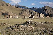 Late nineteenth century Islamic mausoleums at the foot of the At Bashy range near Kyzyl-Tuu, Naryn province, Kyrgyzstan