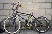 Old school BMX with no saddle, UK, 2000's