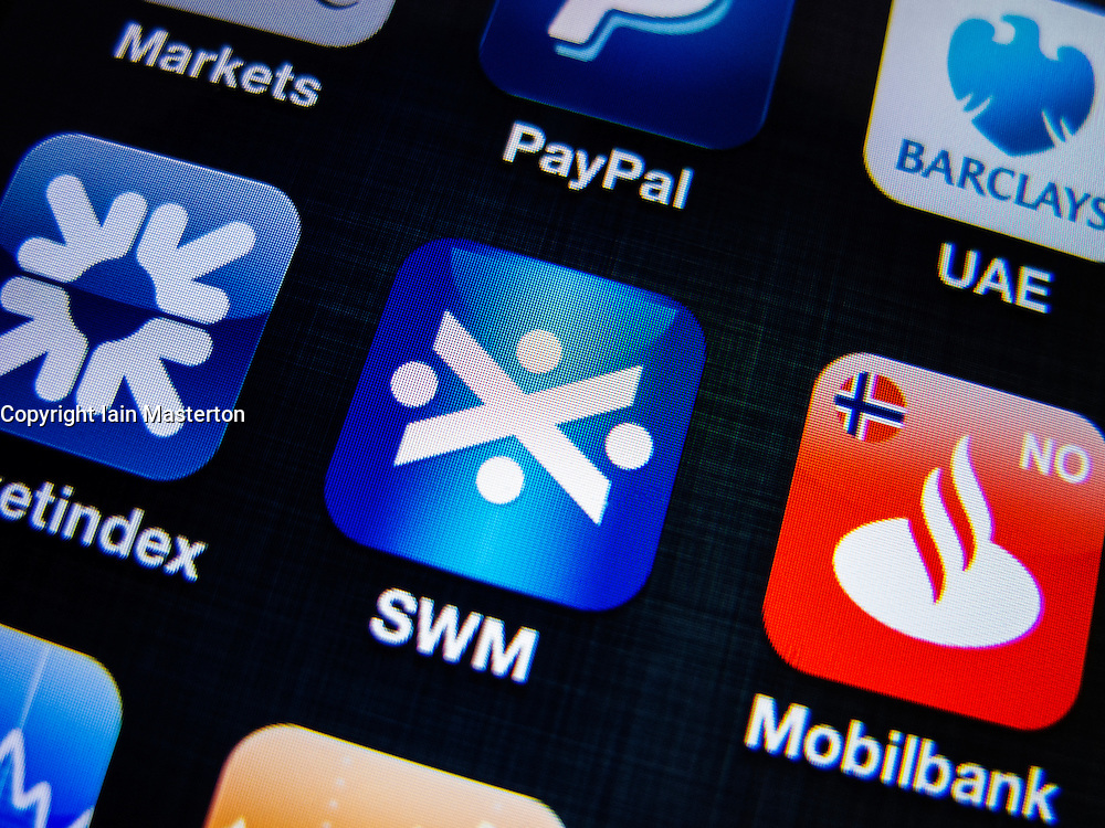 detail of Bank of Scotland banking app on iPhone screen
