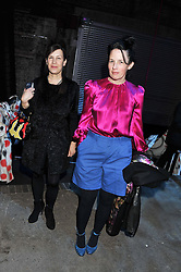Left to right, MAUREEN PALEY and ANNE HARDY at the Contemporary Art Society's Gala evening held at the Farmiloe Buildings, St.John Street, London EC1 on 29th February 2012.