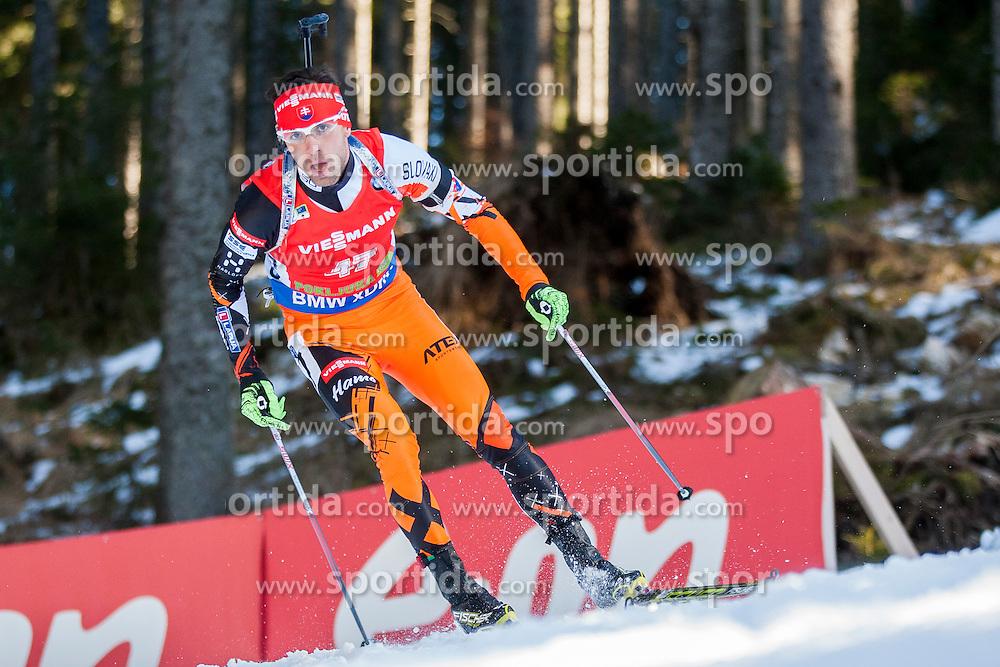 Matej Kazar (SVK) competes during Men 12,5 km Pursuit at day 3 of IBU Biathlon World Cup 2015/16 Pokljuka, on December 19, 2015 in Rudno polje, Pokljuka, Slovenia. Photo by Urban Urbanc / Sportida