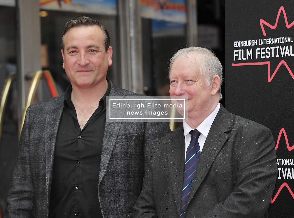 Edinburgh International Film Festival, Sunday 26th June 2016<br /> <br /> Stars turn up on the closing night gala red carpet for the World Premiere of &quot;Whisky Galore!&quot;  at the Edinburgh International Film Festival 2016<br /> <br /> Michael Nardone who plays Brown and Brian Pettifer who plays Angus in the film<br /> <br /> (c) Alex Todd | Edinburgh Elite media