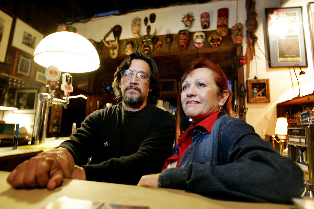 TIJUANA, MEXICO-AUGUST 16: L, Jose and Adelaida, owners of El Lugar del Nopal in Tijuana.