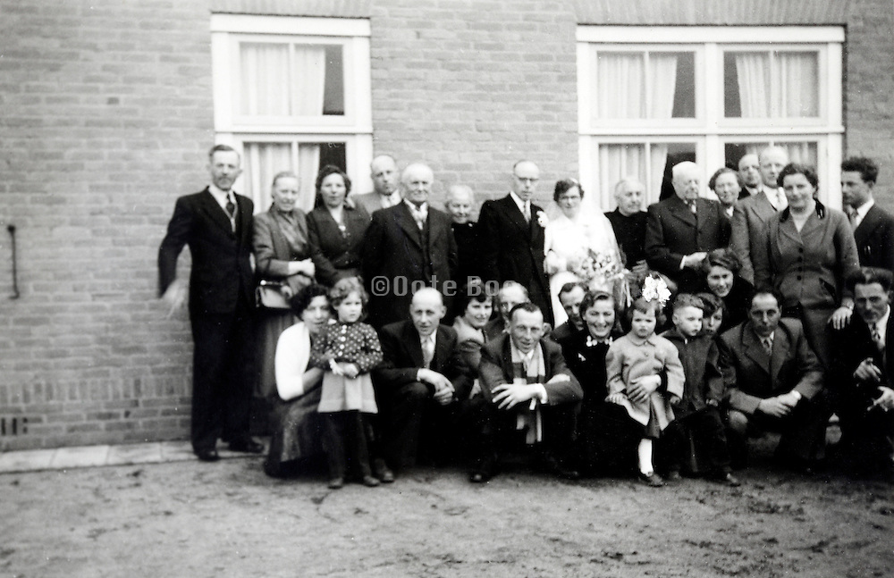 wedding family group 1950s rural Holland