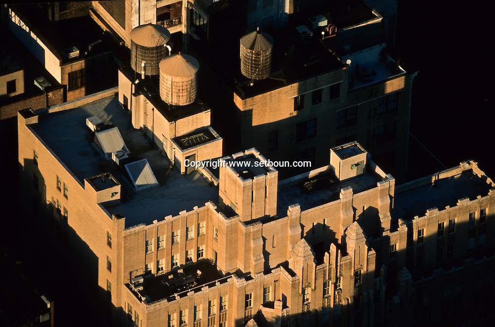 New York. elevated view. roofs in Murray hill area in midtown  New york - United states  Manhattan /  le quartier de Murray hill  New york