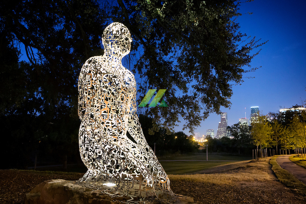"A magnificent group of sculptures created by internationally renowned contemporary Spanish artist and sculptor, Jaume Plensa are now open to the public at ""Harmony Walk"" on the Buffalo Bayou side of the intersection of Allen Parkway and Montrose. The Rosemont Bridge provides a new view of downtown Houston with 780 linear feet of concrete and steel spanning Buffalo Bayou. On Saturday, March 26, 2011, at 11 a.m. on the north side of the Memorial Drive trail system near Montrose Boulevard, the Rosemont Bridge had its Grand Opening Ceremony and Festival."