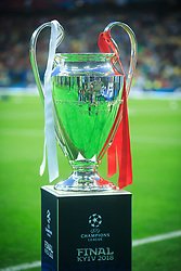 Trophy in the pitch corner prior to the UEFA Champions League final football match between Liverpool and Real Madrid at the Olympic Stadium in Kiev, Ukraine on May 26, 2018.Photo by Sandi Fiser / Sportida