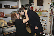 LADY ANNABEL GOLDSMITH AND BEN GOLDSMITH, ' Copper: A Dog's Life' Lady Annabel Goldsmith book signing. Mungo and Maud, Elizabeth St. London. 20 February 2007.   -DO NOT ARCHIVE-© Copyright Photograph by Dafydd Jones. 248 Clapham Rd. London SW9 0PZ. Tel 0207 820 0771. www.dafjones.com.