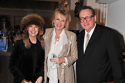 Left to right, SUSAN BOYD, LOUISE FENNELL and LORD SAATCHI at a party to celebrate the publication of Fame Game by Louise Fennell held at Grace, West Halkin Street, London on 12th March 2013.