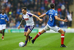 Christian Burgess of Portsmouth misses a tackle on Jon Taylor of Rotherham United - Mandatory by-line: Jason Brown/JMP - 03/09/2017 - FOOTBALL - Fratton Park - Portsmouth, England - Portsmouth v Rotherham United - Sky Bet League Two