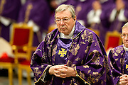 Vatican City feb 10th 2016, the pope leads the Ash Wednesday Mass. In the picture Card. George Pell