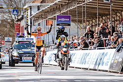 Chantal Blaak wins in Wevelgem after a brave solo move - Women's Gent Wevelgem 2016, a 115km UCI Women's WorldTour road race from Ieper to Wevelgem, on March 27th, 2016 in Flanders, Belgium.
